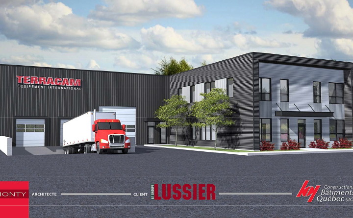 Édifice industriel Terracam pour le Groupe Lussier à Sainte-Julie